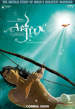 This is a poster for Arjun. The poster art cop...
