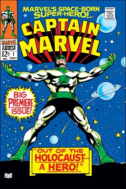 Cover of Marvel's Space-Born Superhero! Captain Marvel 1 (May 1968 Marvel Comics)