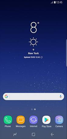 weather app disappeared on galaxy s5