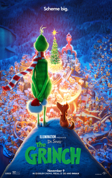 The Grinch 2018 US Animation Yarrow Cheney Benedict Cumberbatch Cameron Seely Rashida Jones  Animation, Comedy, Family