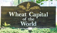 Wellington, Kansas is known as The Wheat Capital of the World.