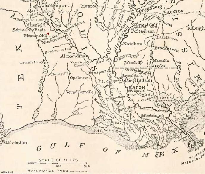 Image of a map of Louisiana's Natural and Scenic Rivers