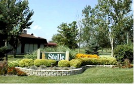 Stelle subdivision entrance sign