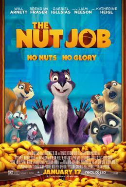 Movie release poster for The Nut Job, courtesy Open Road Films