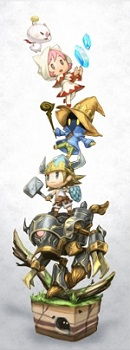 "Artwork created by Yasuhisa Izumisawa: using the chosen super deformed ""chibli"" artstyle, it provided the inspiration for the game's stacking mechanic. WoFF concept art.jpg"