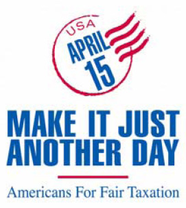 An Americans For Fair Taxation slogan