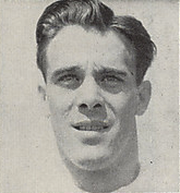 A headshot of Cliff Lewis from a 1946 Cleveland Browns game program