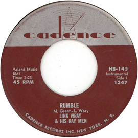 Rumble (instrumental) 1958 instrumental by Link Wray