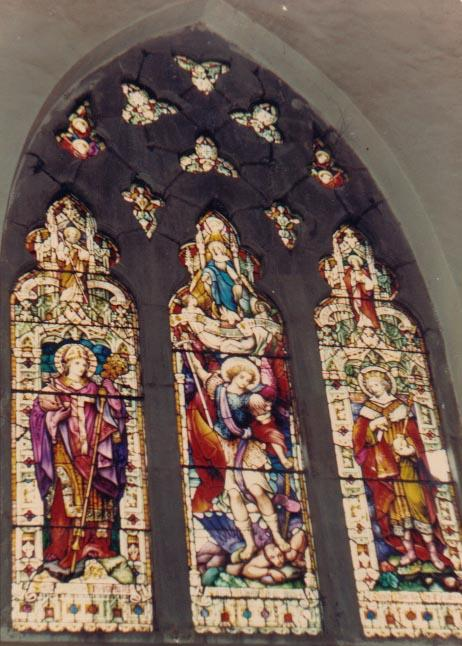 Stained glass windows at Christ Church (1850), Shimla.