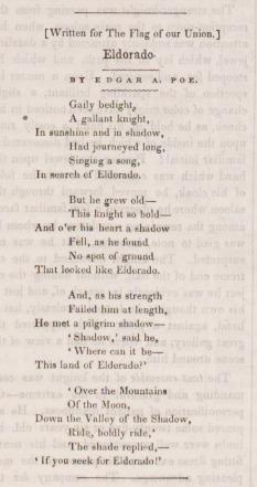 Poe Museum's Poem of the Week: