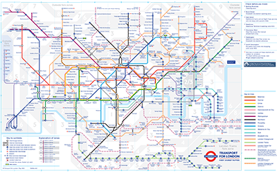 Map Of London Tub Tube map   Wikipedia