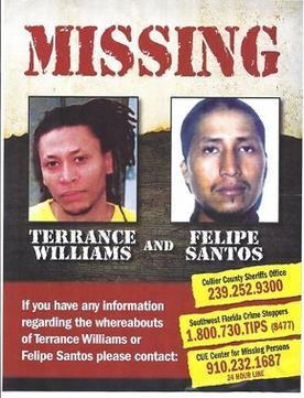 Disappearance of terrance williams and felipe santos for Steve calkins