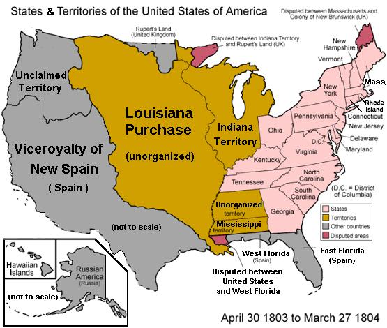 louisiana purchase of 1803 the key Louisiana purchase, 1803 thomas jefferson was the 3rd american president who served in office from march 4, 1801 to march 4, 1809 one of the important events during his presidency was the louisiana purchase, 1803 that doubled the size of the united states.