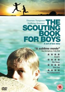 "UK DVD cover for the movie ""The Scouting Book for Boys""."