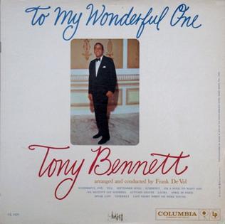 <i>To My Wonderful One</i> 1960 studio album by Tony Bennett