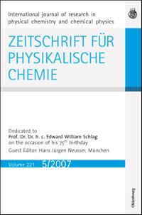 <i>Zeitschrift für Physikalische Chemie</i> peer-reviewed scientific journal