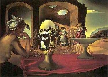 "Salividore Dali Painting ""Study for Slave Market"""