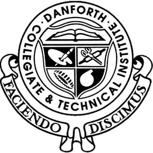 Danforth Collegiate and Technical Institute High school in Greektown, Toronto, Ontario, Canada