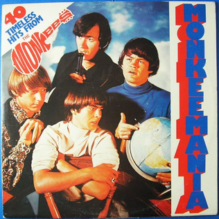 <i>Monkeemania (40 Timeless Hits)</i> 1979 greatest hits album by the Monkees