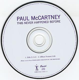 This Never Happened Before 2006 song with lyrics by Paul McCartney performed by Paul McCartney
