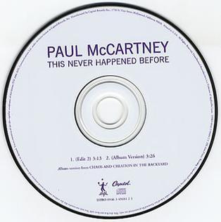 Titelbild des Gesangs This Never Happened Before von Paul McCartney