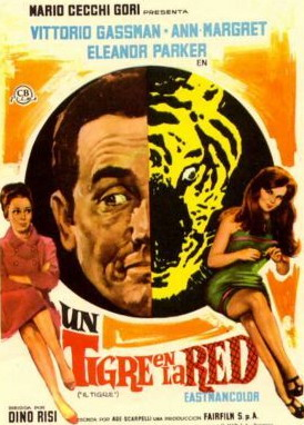 Il Tigre Vittorio Gassman vintage movie poster print