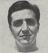 A headshot of Bud Schwenk from a 1946 Cleveland Browns game program