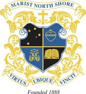 Marist College North Shore crest. Source: www.maristcollege.com (Marist College North Shore website)