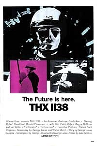 <i>THX 1138</i> 1971 dystopian science fiction movie directed by George Lucas