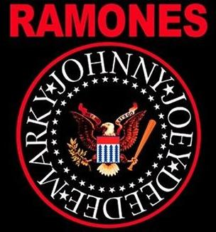 The band's logo, based on the Seal of the President of the United States Ramones logo.jpg