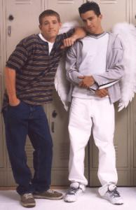 Teen Angel promo shot of Corbin Allred and Mike Damus.