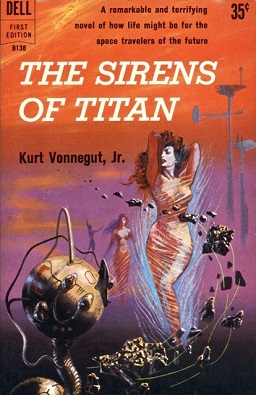book cover, the sirens of titan by kurt vonnegut