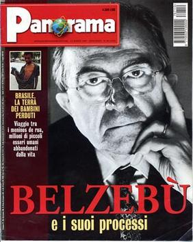 Cover of the Italian weekly Panorama featuring Andreotti Belzebu.jpg