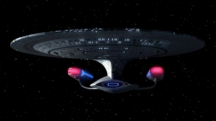 Still-frame image of the Enterprise 1701-D