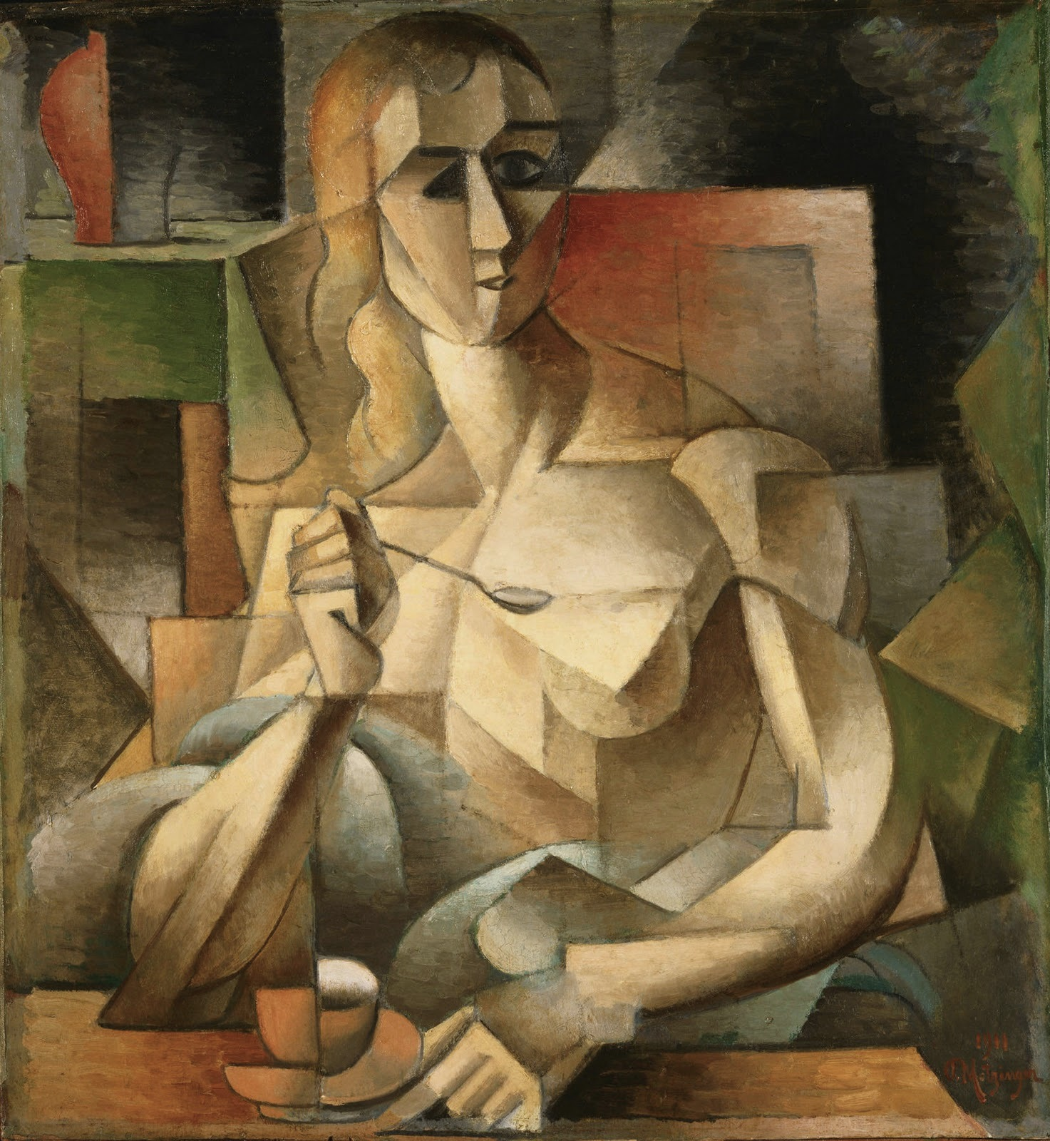 Cubist cross with nude