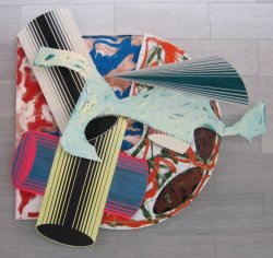 Frank Stella La scienza della pigrizia (The Science of Laziness), 1984, oil paint, enamel paint, and alkyd paint on canvas, etched magnesium, aluminum and fiberglass, National Gallery of Art, Washington DC