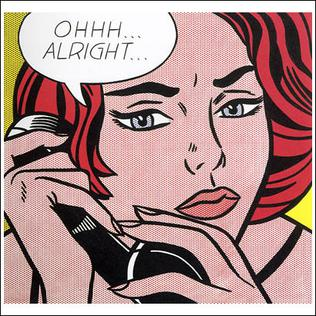 <i>Ohhh...Alright...</i> painting by Roy Lichtenstein