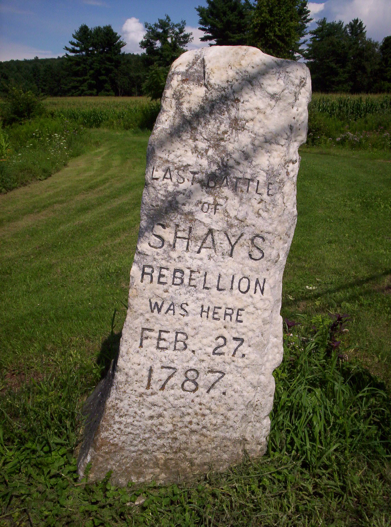 shays rebellion picture and images file shays rebellion monument jpg