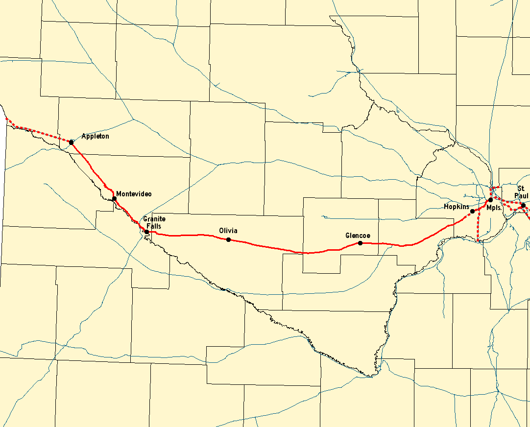 Twin Cities and Western Railroad - Wikipedia on wheeling & lake erie route map, union pacific route map, virginia & truckee route map, chicago great western route map, united route map, grand trunk route map, milwaukee railroad lines, air canada route map, milwaukee railroad in idaho, air china route map, georgia railroad route map, soo line railroad map, strasburg railroad route map, illinois central route map, mt. shasta route map, via rail canada route map, rock island route map, iberia route map, southern railway route map, dallas area rapid transit route map,