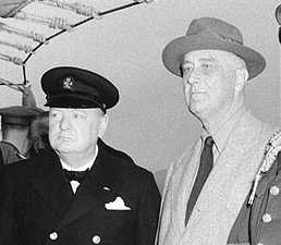 Winston Churchill and Franklin D. Roosevelt