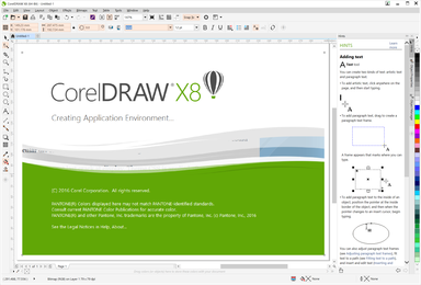 Full CorelDRAW X8 screenshot