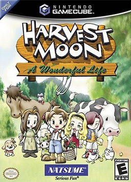Harvest Moon: A Wonderful Life U.S. GameCube box cover