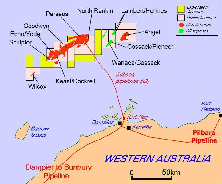 Map Of North West Australia.North West Shelf Venture Wikipedia