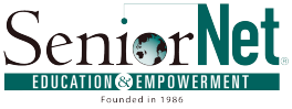 This is a logo of SeniorNet.png
