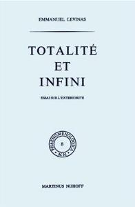 <i>Totality and Infinity</i> book by Emmanuel Levinas