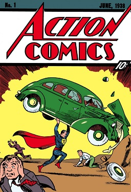 Superman making his debut in Action Comics No....
