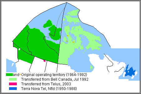 Northwestel Wikipedia - Historical map of bell telephone coverage in the us