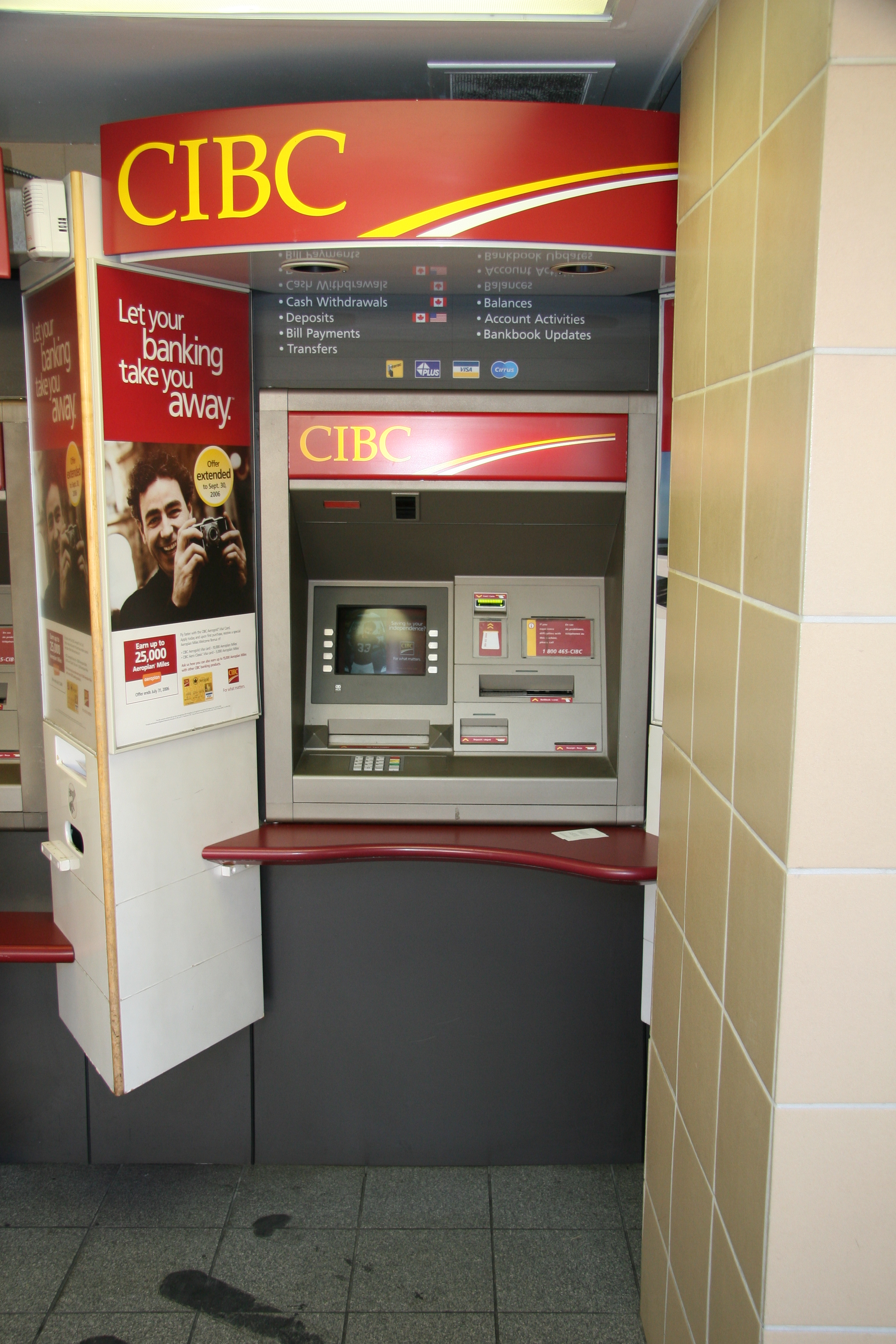 bank of america atm in vancouver bc canada