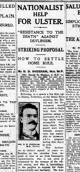 Proposals for Ulster settlement, Daily Express, 27 January 1914