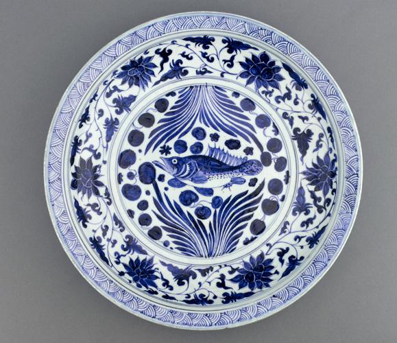 File Yuan Dynasty  porcelain dish  mid 14th century jpgYuan Dynasty Art